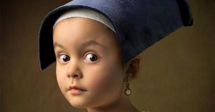 多虧她老爸瘋狂的點子,這名只有5歲的小女孩現在已經是一位知名的模特兒。