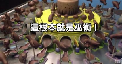 動畫巧克力旋轉蛋糕