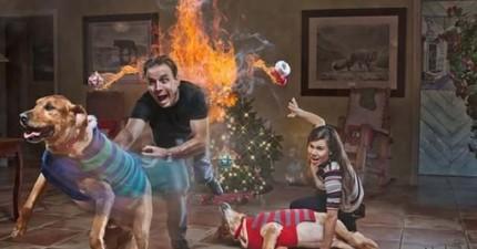 一般家庭照落伍了,這16張趣味爆表的聖誕家族照會讓你忍不住嘴角大上揚!