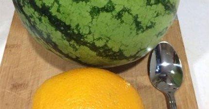 簡單如一顆西瓜和一顆橘子,可以讓你的一整個禮拜充滿爆炸快樂。