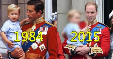 英國皇室用了30年的時間複製了這個「皇室級可愛」的經典畫面!