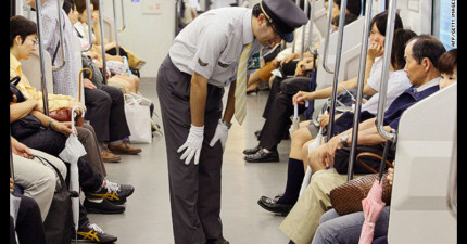 這張造成全世界網友熱議的照片,完全讓人們對日本人的禮貌程度有了新的看法!