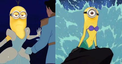 當迪士尼公主全都變身成小小兵...我真的沒辦法接受花木蘭變成那張臉。
