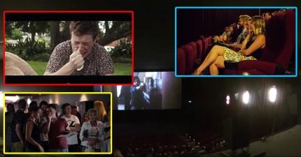 這個女生跟男友一起去看一場電影,但螢幕上看到的竟是男友跟她的父親尋求同意...然後被打槍!