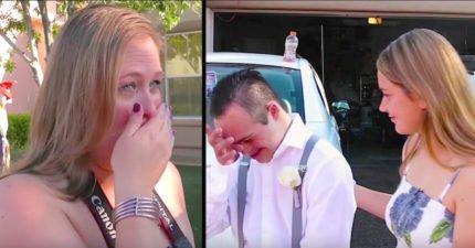 當沒有人願意跟「唐氏綜合症」男生跳舞時,這位女生站出來說的話讓媽媽秒爆淚