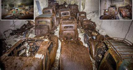 採礦場驚現大批「70年前二戰珍貴古董車」 躲希特勒真相令人戰慄!