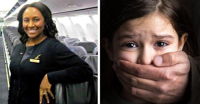 空姐看到「女孩表情不對」偷打暗號 用「洗手間便條」救她一命
