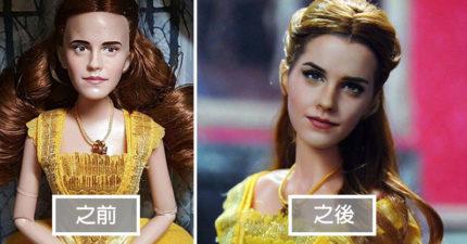 藝術家看不慣名人「娃娃做太醜」,自己重新畫出「逼真到嚇人」的臉孔! (30張)