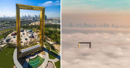 杜拜2018年最新狂妄建築完工超巨大「杜拜畫框」,一到晚上從一邊看「最美的杜拜誕生」!