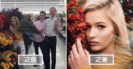 攝影師挑戰在「醜醜的場景」拍出時尚雜誌般的藝術美照!加油站拍起來超有味道!(11張)
