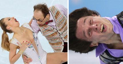 31張為什麼溜冰比賽應該要「禁止拍攝」的超殘忍爆笑表情!