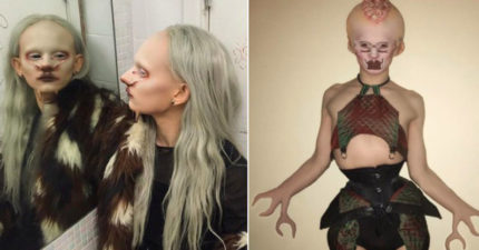 超現實「外星人模特兒」怪誕奇異變裝照網爆紅!絲襪裡塞「生肉」她:身體是一艘載著我醜陋的船