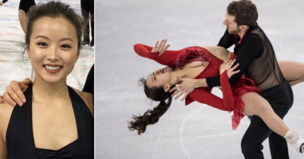 鈕扣噴飛!南韓滑冰爆乳正妹上陣第5秒就走光「敬業完成比賽」全場觀眾暴動