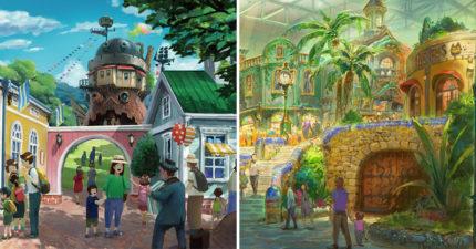 宮崎駿迷瘋了!官方釋出「吉卜力樂園概念圖」 超美細節首度曝光!