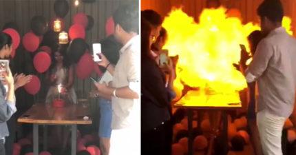 她開心點蠟燭慶生 下秒直接變「火山爆發」悲劇親友卻逃走