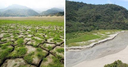 開始下雨了卻看到「最令人漏心跳的照片」,這片大草原很美「但卻是曾文水庫乾旱慘狀!」