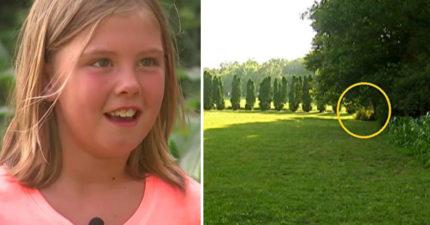 9歲女突感「強烈直覺」要她出門 一到後院就看到一團肉色