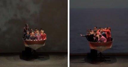 這些人全擠在「小船」上 但音樂一響起...證明空間無法限制舞蹈!