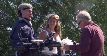 漸凍人爸爸為女兒捨棄輪椅 「用生命踏出第一步」全場泛淚