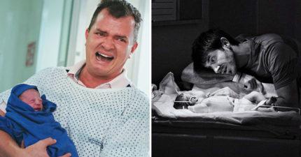 30張證明「爸爸也很偉大」的看孩子出生「情緒爆炸」感人催淚照!