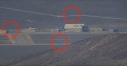 影/神秘51區清晰照曝光!軍車來回戒備「外星人基地在地底下」