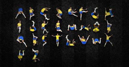 滾出新境界!巴西設計師推「超狂內馬爾字體」 26個英文字母滾好滾滿