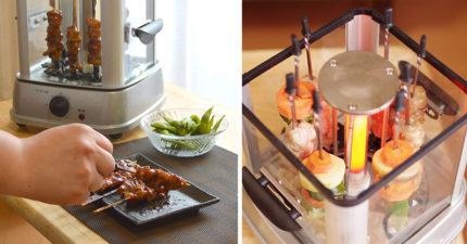 日本新出「桌上型串燒機」 揪同事放一台...辦公室秒變居酒屋!