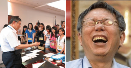幸福是什麼呢?柯文哲苦笑:我在藍綠夾殺下「還在呼吸」