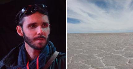 他眼盲卻比有眼睛更狂 徒步140KM穿越沙漠「只靠一小車補給品」