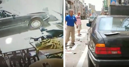 BMW大媽吃完鱔魚麵「暴衝連掃13車」 呆滯臉坐駕駛位:完了...