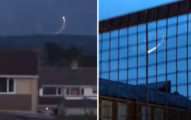深夜天空出現「詭異光影繞圈」 居民拍下:是幽浮巡邏好幾天了...