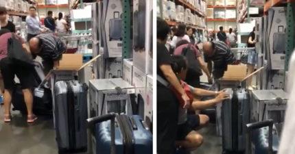 好市多考驗台灣人性 全新行李箱「當場拆封」:我們要檢查啊~