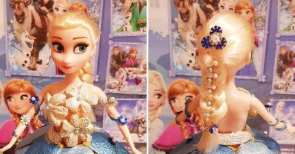 巧手媽花155元打造柚子艾莎 「超夢幻下擺」網讚嘆:不能被我女兒看到!