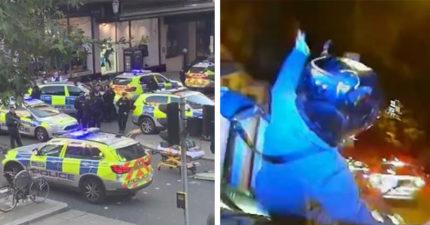 倫敦警推「碰碰車執法」一年狂減36%犯罪率 嫌犯轉身準備逃...下秒直接被撞下車!