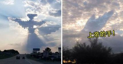 10張證明「天使真的存在」的神蹟照 雲層定格...奇異靈體卻自己移動了!