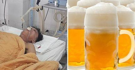 超嗨哥開趴「喝到救護車接走」 體內甲醇超標1119倍...醫生救他竟「再灌15瓶」!