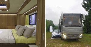 5000萬灑下去!「全世界最高級露營車」內裝比你家還帥 車底再拉出一個停車格!