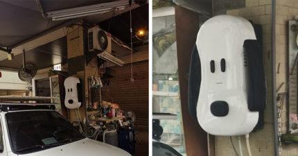 最萌水電工!熱愛「Snoopy」自改熱水器造型 網爆:連車子、機車也是史努比~