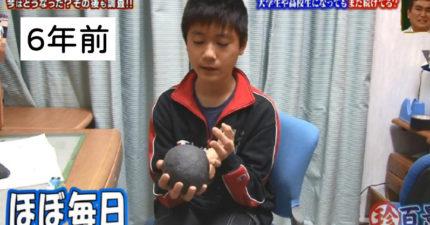 12年狂搓橡皮擦!「球越大、成績越好」他搓到1kg當上學霸:讓孩子繼承球