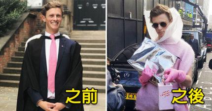 他們找朋友假扮潮模惡整攝影師 沒想到「粉紅橡膠手套」太時尚…現在連知名品牌都來致敬!