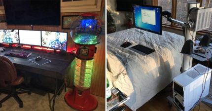 20個「不玩遊戲也想一輩子不出來」的超狂遊戲房 床上的4個螢幕就是KO敵人的關鍵!