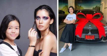 化妝神妹買BMW當「12歲生日禮」 她11歲「創下的超狂記錄」網傻眼:別人一輩子做不到!