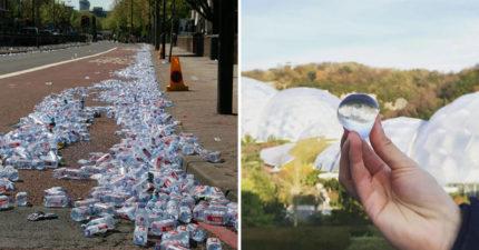 全新發明「可飲用水球」將能取代寶特瓶!短短1年「減少22萬個塑料垃圾」連包裝都可以吃掉~