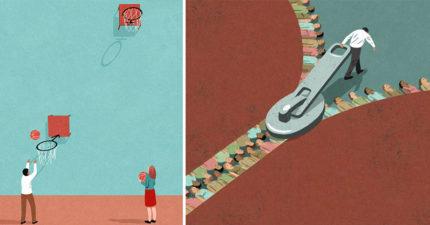 26張證明「社會比你想像中更冷血」寫實諷刺插畫 所謂的公義...根本是迷宮!