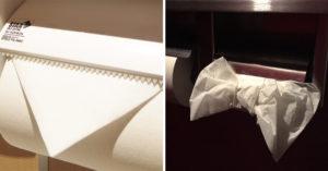 日瘋傳「把衛生紙折成蝴蝶結」超狂舉動 網友效仿「展現女子力」卻被罵爆:很沒常識!