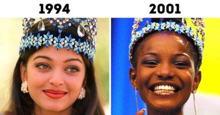 出生那年的「世界小姐」是誰?盤點歷代冠軍得主照 網驚見「亮點」:2012年全長一樣!