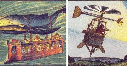 10個「古人對未來的幻想」現在真的實現了 100年前的「掃地機器人」超可愛!