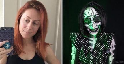 她用「超神特效化妝」還原30個知名角色 《X戰警》魔形女的「超能力」都被完美複製!