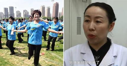 60歲中國大媽跳舞跳太嗨「褲子濕掉」 醫生檢查完嚇壞:你的子宮抖出來了