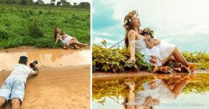 攝影師挑戰「醜地方拍美照」的超神奇作品 隔壁大嬸種的花是「變仙女」的關鍵!